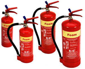Foam Extinguishers: Cartridge operated